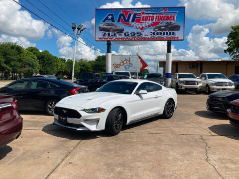2019 Ford Mustang for sale at ANF AUTO FINANCE in Houston TX