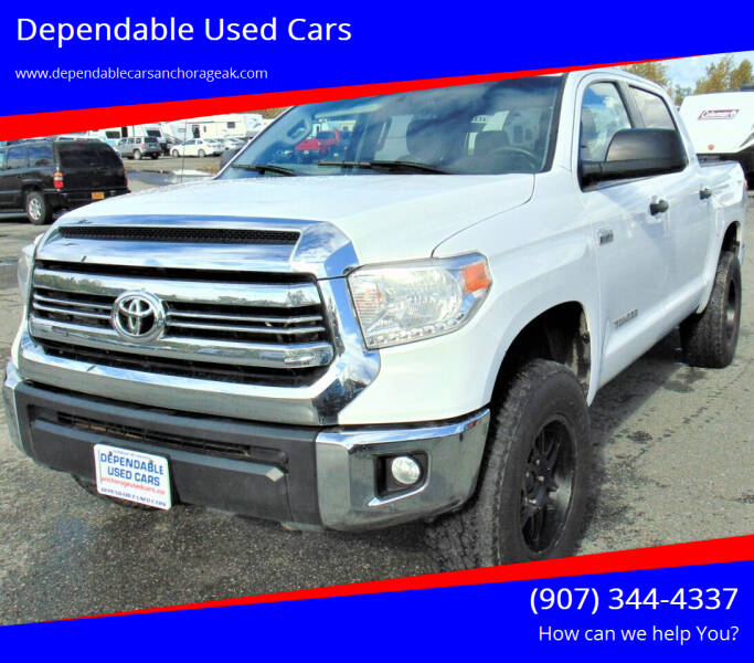 2016 Toyota Tundra for sale at Dependable Used Cars in Anchorage AK