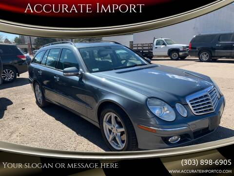 2007 Mercedes-Benz E-Class for sale at Accurate Import in Englewood CO
