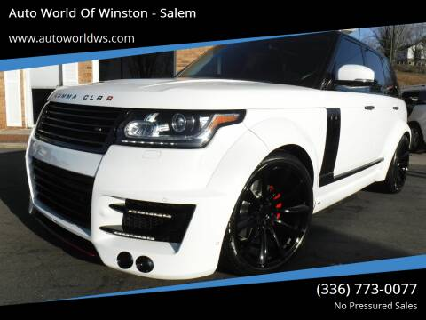 2014 Land Rover Range Rover for sale at Auto World Of Winston - Salem in Winston Salem NC