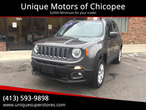 2018 Jeep Renegade for sale at Unique Motors of Chicopee in Chicopee MA