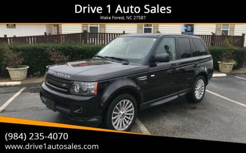 2013 Land Rover Range Rover Sport for sale at Drive 1 Auto Sales in Wake Forest NC