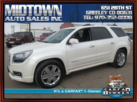 2014 GMC Acadia for sale at MIDTOWN AUTO SALES INC in Greeley CO