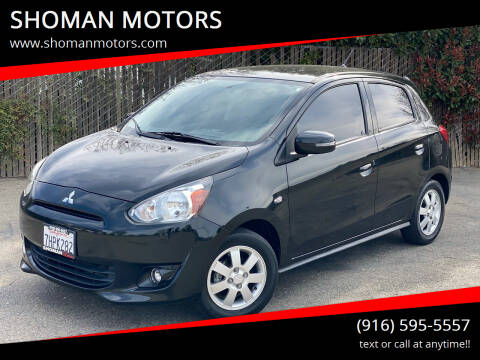 2015 Mitsubishi Mirage for sale at SHOMAN MOTORS in Davis CA