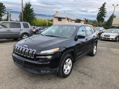 2014 Jeep Cherokee for sale at KARMA AUTO SALES in Federal Way WA