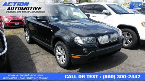 2010 BMW X3 for sale at Action Automotive Inc in Berlin CT
