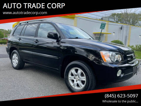 2003 Toyota Highlander for sale at AUTO TRADE CORP in Nanuet NY