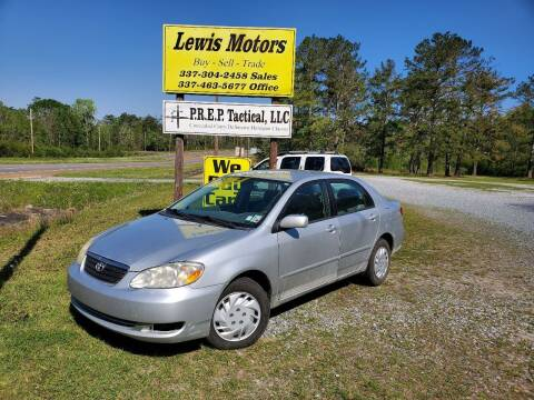 2005 Toyota Corolla for sale at Lewis Motors LLC in Deridder LA