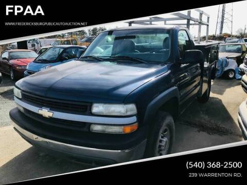2001 Chevrolet Silverado 2500HD for sale at FPAA in Fredericksburg VA