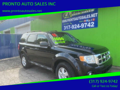 2011 Ford Escape for sale at PRONTO AUTO SALES INC in Indianapolis IN