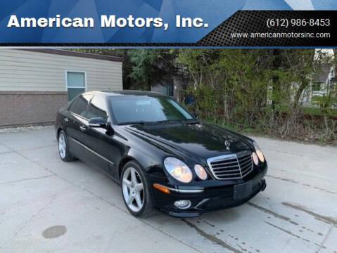 2008 Mercedes-Benz E-Class for sale at American Motors, Inc. in Farmington MN