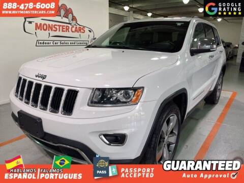2015 Jeep Grand Cherokee for sale at Monster Cars in Pompano Beach FL