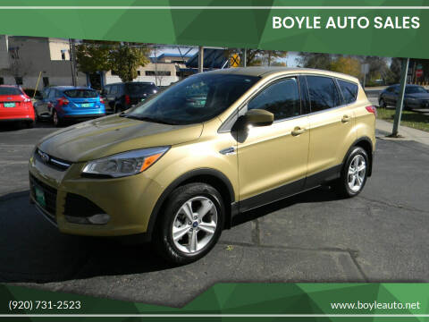 2014 Ford Escape for sale at Boyle Auto Sales in Appleton WI