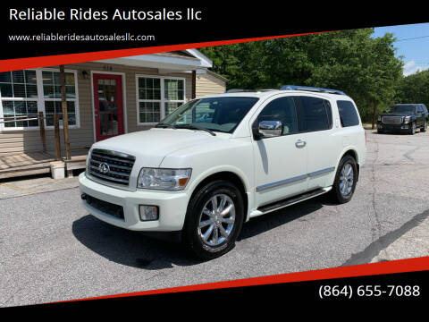 2010 Infiniti QX56 for sale at Reliable Rides Autosales llc in Greer SC