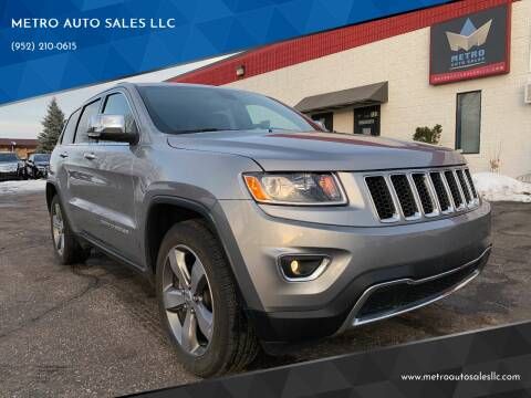 2014 Jeep Grand Cherokee for sale at METRO AUTO SALES LLC in Blaine MN