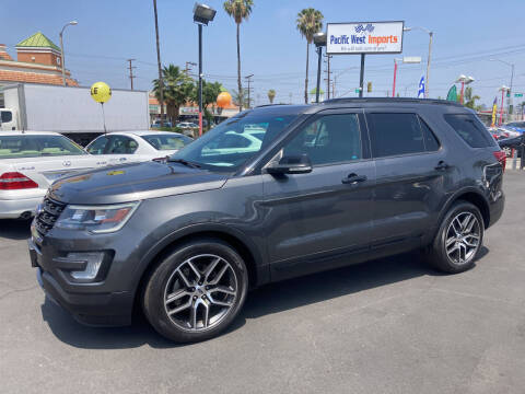 2016 Ford Explorer for sale at Pacific West Imports in Los Angeles CA