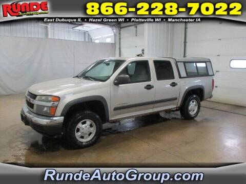 2005 Chevrolet Colorado for sale at Runde PreDriven in Hazel Green WI