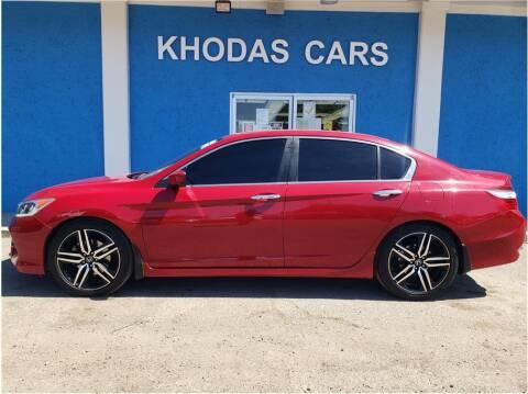 2017 Honda Accord for sale at Khodas Cars in Gilroy CA