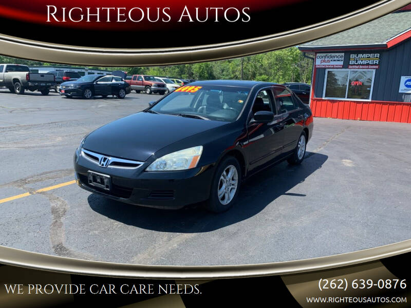 2007 Honda Accord for sale at Righteous Autos in Racine WI