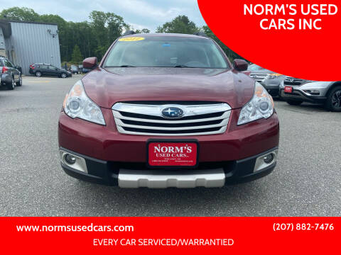 2012 Subaru Outback for sale at NORM'S USED CARS INC in Wiscasset ME