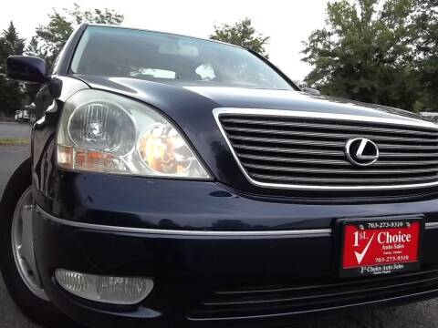 2002 Lexus LS 430 for sale at 1st Choice Auto Sales in Fairfax VA
