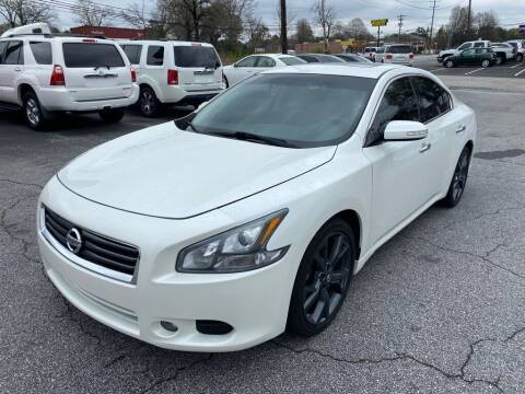 2014 Nissan Maxima for sale at Brewster Used Cars in Anderson SC