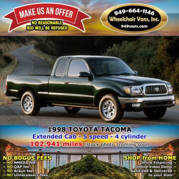 1998 Toyota Tacoma for sale at Wheelchair Vans Inc - New and Used in Laguna Hills CA