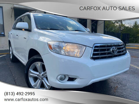 2009 Toyota Highlander for sale at Carfox Auto Sales in Tampa FL