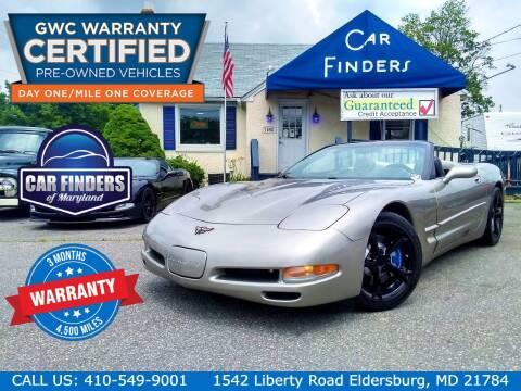 1998 Chevrolet Corvette for sale at CAR FINDERS OF MARYLAND LLC - Certified Cars in Eldersburg MD
