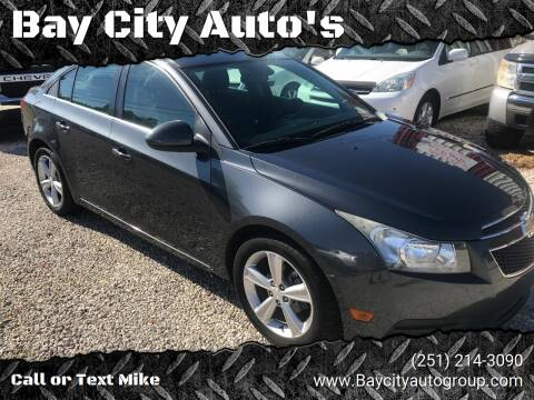 2013 Chevrolet Cruze for sale at Bay City Auto's in Mobile AL