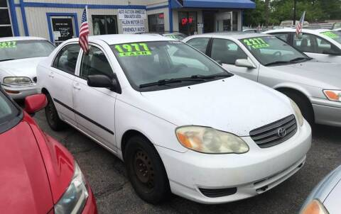 2003 Toyota Corolla for sale at Klein on Vine in Cincinnati OH