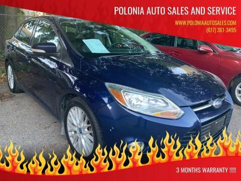 2012 Ford Focus for sale at Polonia Auto Sales and Service in Hyde Park MA