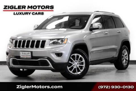 2015 Jeep Grand Cherokee for sale at Zigler Motors in Addison TX