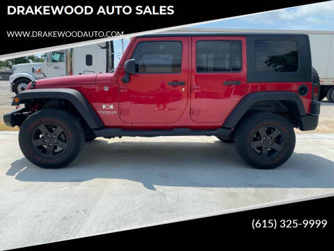 2008 Jeep Wrangler Unlimited for sale at DRAKEWOOD AUTO SALES in Portland TN
