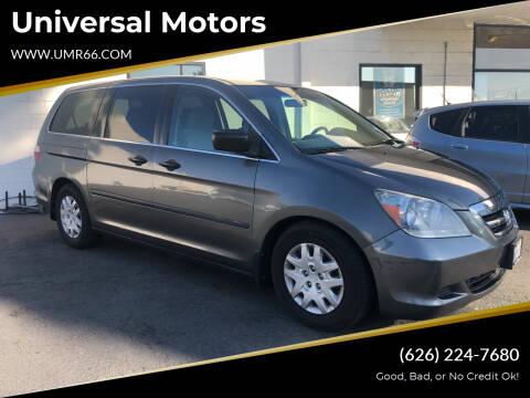 2007 Honda Odyssey for sale at Universal Motors in Glendora CA