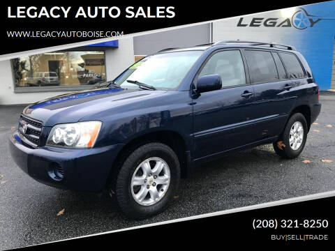 2002 Toyota Highlander for sale at LEGACY AUTO SALES in Boise ID