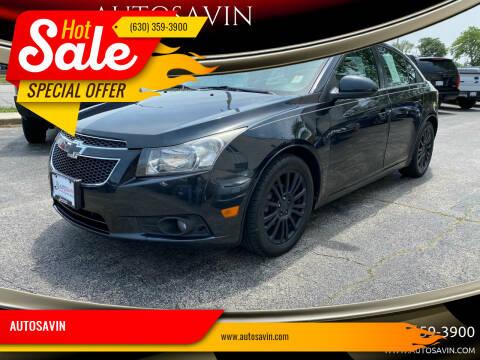 2011 Chevrolet Cruze for sale at AUTOSAVIN in Elmhurst IL