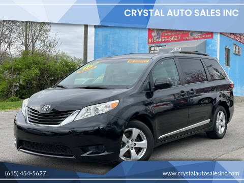 2016 Toyota Sienna for sale at Crystal Auto Sales Inc in Nashville TN
