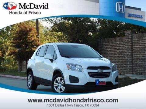 2015 Chevrolet Trax for sale at DAVID McDAVID HONDA OF IRVING in Irving TX