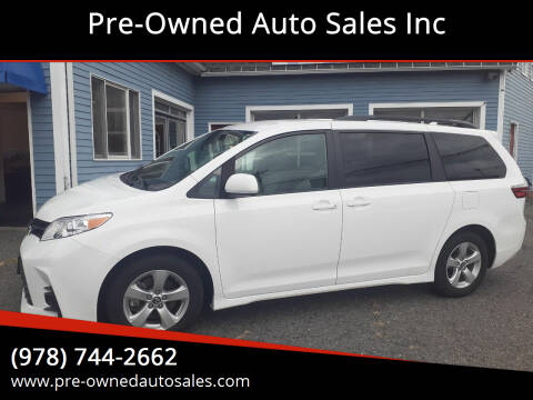 2020 Toyota Sienna for sale at Pre-Owned Auto Sales Inc in Salem MA