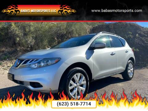 2013 Nissan Murano for sale at Baba's Motorsports, LLC in Phoenix AZ