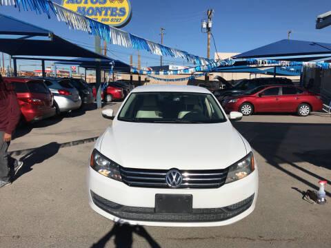 2014 Volkswagen Passat for sale at Autos Montes in Socorro TX