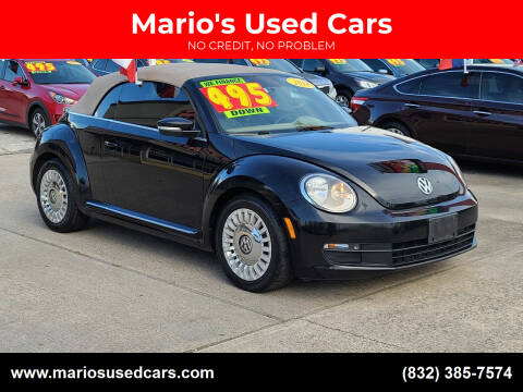 2014 Volkswagen Beetle Convertible for sale at Mario's Used Cars in Houston TX