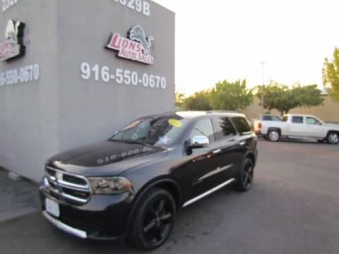 2011 Dodge Durango for sale at LIONS AUTO SALES in Sacramento CA