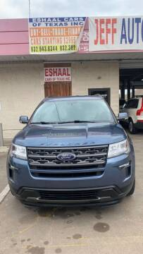2018 Ford Explorer for sale at Eshaal Cars of Texas in Houston TX