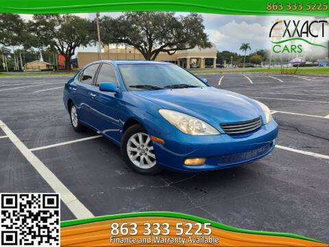 2003 Lexus ES 300 for sale at Exxact Cars in Lakeland FL