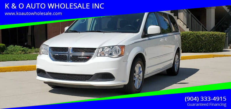 2015 Dodge Grand Caravan for sale at K & O AUTO WHOLESALE INC in Jacksonville FL