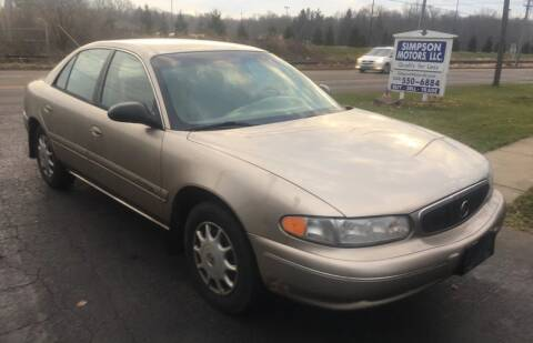 1999 Buick Century for sale at SIMPSON MOTORS in Youngstown OH