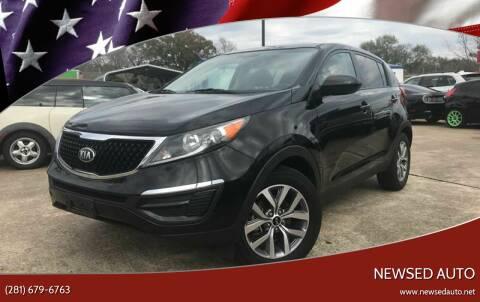 2015 Kia Sportage for sale at Newsed Auto in Houston TX