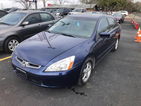 2004 Honda Accord for sale at John 3:16 Motors in San Antonio TX